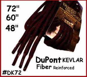 "1pair 72"" Round ~ Dark Brown Kevlar Work Boot Hiking Laces ~ Shoe lace TUFF LACE"