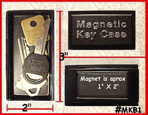 3 Plastic Magnetic Key Box Don't be without a SPARE Key