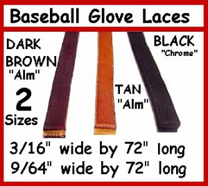 "BLACK  BASEBALL GLOVE LACE re-placement laces 3/16""X72"""