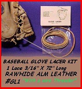 3/16D.Brn BASEBALL GLOVE LACE REPAIR kit/ lace FREEShip