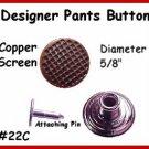 2 Copper Dots BIB Button Vest PANTS Jeans OVERALLS