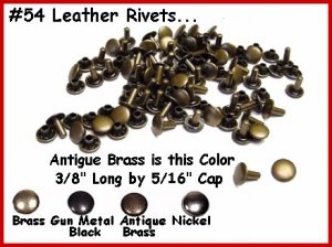 NOT China Gun Blk. RIVETS work for LEATHER Cases, Belts