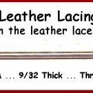Baseball GLOVE Narrow Leather lace NEEDLE FREE Shipping