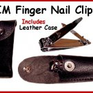 TRIM Finger Nail CLIPPER in Leather Case FREE SHIPPING!