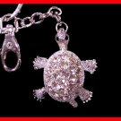 Crystal Diamond Turtle KEYCHAIN Key Fob Ring FREESHIP