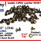Quality! Gun Metal Black TINY RIVETS LEATHER DECORATING