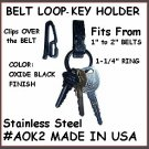 2 Metal BELT LOOP Janitor 2 Style Key Ring Made in USA