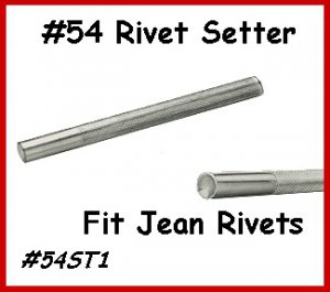 Setting Tools for #54 Leather Rivets for Jean Rivets