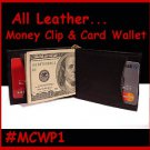 BI-FOLD CARD ID Wallet LEATHER MONEY CLIP FREEShipping.