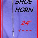 "24"" Long ~ JOCKEY SHOE HORN NO BEND back STRETCHER"