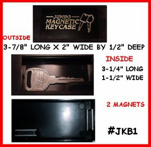 2 � JUMBO Magnetic Key Box Don't be without a SPARE Key