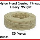 Wht Heavy Nylon Hand Sewing Leather Thread