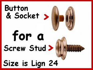 20 Buttons & Sockets for canvas SNAP ~ NO TOOLS