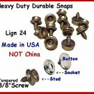 10 -3/8&quot; long Screw Studs & Caps Lign 24 NICKEL Snaps