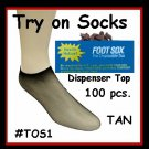 NEW! .... Try on FOOT Socks for NEW Shoes - Box of 100