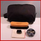 BLK. Miltary travel shoe shine kit with horsehair Brush
