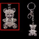 Crystal Diamond Teddy BEAR  KEYCHAIN Key Ring FREESHIP