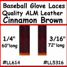 "1/4""x 60"" Alm Brown BASEBALL GLOVE Repair Leather lace"