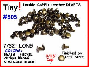 Quality! ~ NICKEL ~ TINY RIVETS LEATHER DECORATING