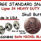 Gun Metal Black SKULL Leather SNAP FASTNERS w tools kit