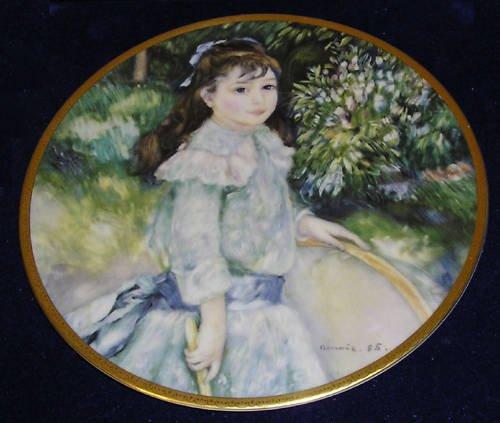 "Pickard China  Renoir ""Girl With a Hoop"" August Renoir"