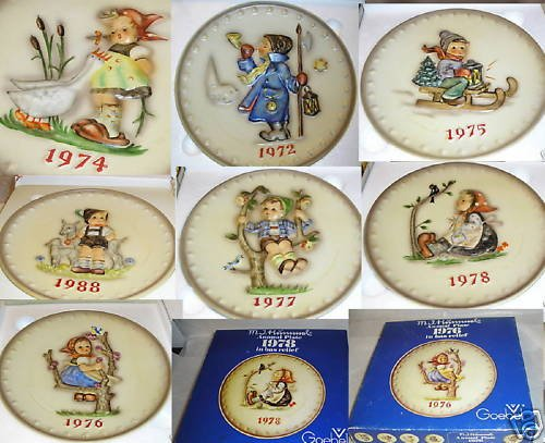 M.I. Hummel Collector Plates 7 PLATE COLLECTION MINT