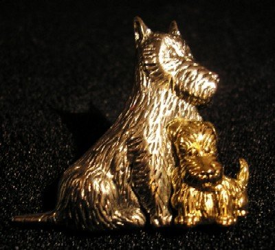 Vintage brooch Liz Claiborne Scottie Dog Terrier New