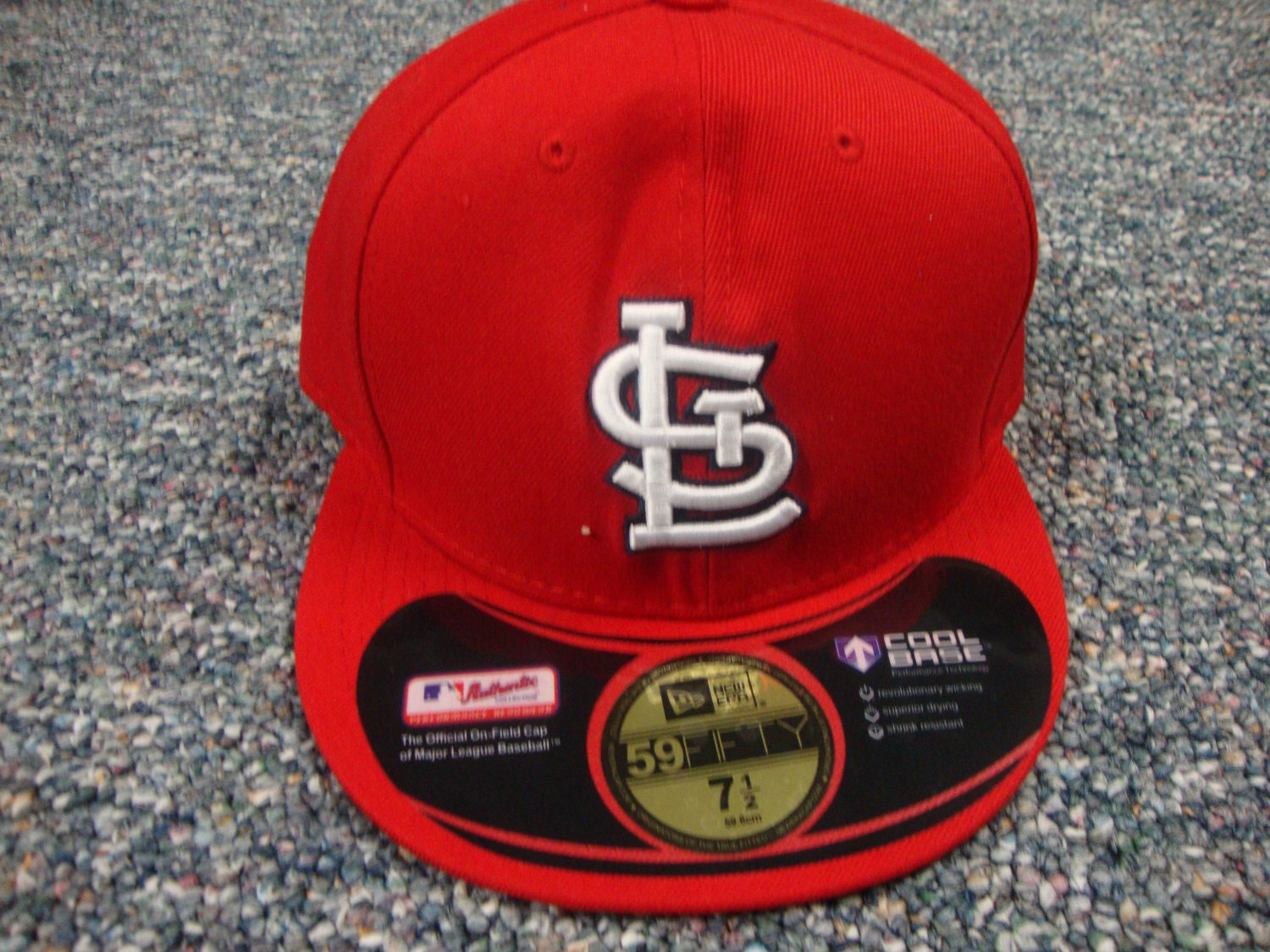 St Louis Cardinals on field 59fifty hat 7 1/2