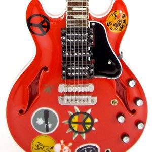 Alvin Lee Miniature Guitar Replica Collectible Ten Years After 335 Red