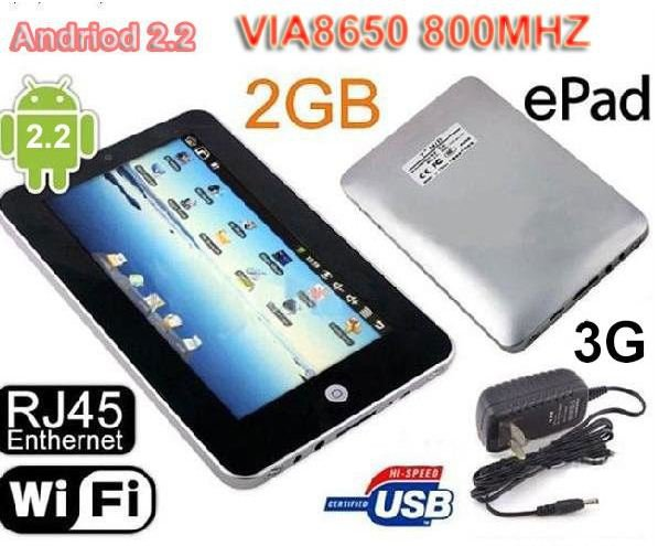 7 Inch ANDROID 2.2 TABLET ePAD- WIFI & LAN - ON SALE NOW !!!