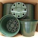 "5"" azalea green plastic pot @ greenhouse nursery outdoor cactus planter 220 lots"
