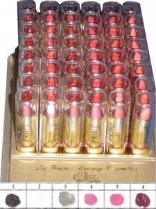 La Femme Gold Cap Lipstick Tray 1