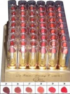 La Femme Gold Cap Lipstick Tray 5
