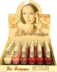 La Femme Hot Color Nail Polish Tray #4