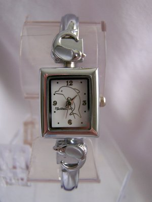 Woman watch w/dolphin white face