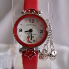 Children watch w/red leather bracelet