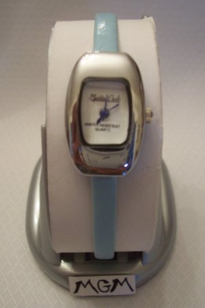 Woman watch w/blue leather bracelet