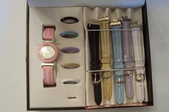Woman gift set watch w/ multiple bracelet