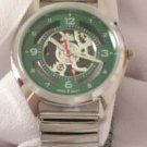 Montres Carlo Men's Green Face Watch W/Flex Band