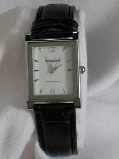 Montres Carlo Unisex Rectangular Watch W/Black Leather Band