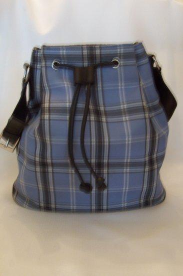 Women's Handbag - Craft/Barrow Plaid Feed Bag Style
