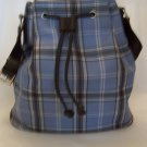 Women's Handbag - Craft/Barrow Plaid Feed Bag Style