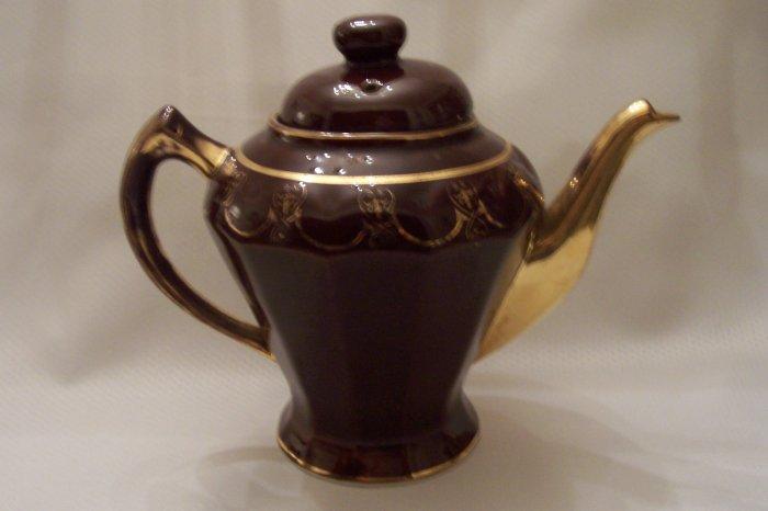 Vintage Tea Pot With 22k Gold Trim