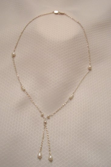 Sterling Silver Necklace With Natural Sea Pearls