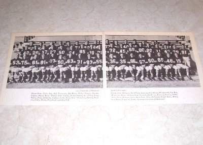 UNIVERSITY OF OKLAHOMA 1954 FOOTBALL TEAM PHOTO