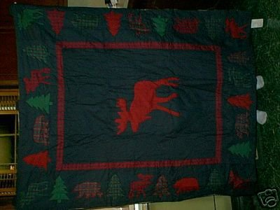 MOOSE BEAR NATURE'S WALK QUILT WALLHANGING NIP