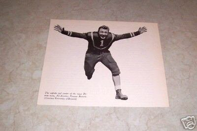 UNIVERSITY OF DETROIT 1921 VINCENT BANONIS FOOTBALL PHOTO
