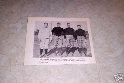 HARVARD HAUGHTON REGIME FOOTBALL GREATS PHOTO