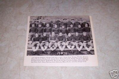 GEORGIA TECH 1928 FOOTBALL TEAM PHOTO
