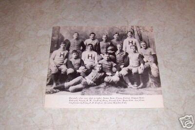 HARVARD 1890 FOOTBALL TEAM PHOTO
